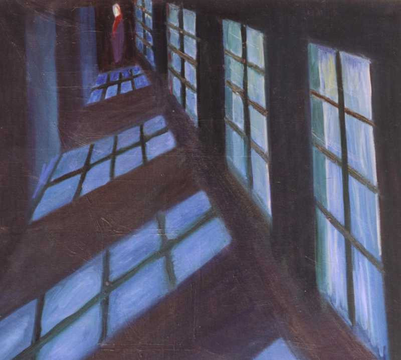 A Long corridor, 1998, 100 × 110 cm, oil on canvas