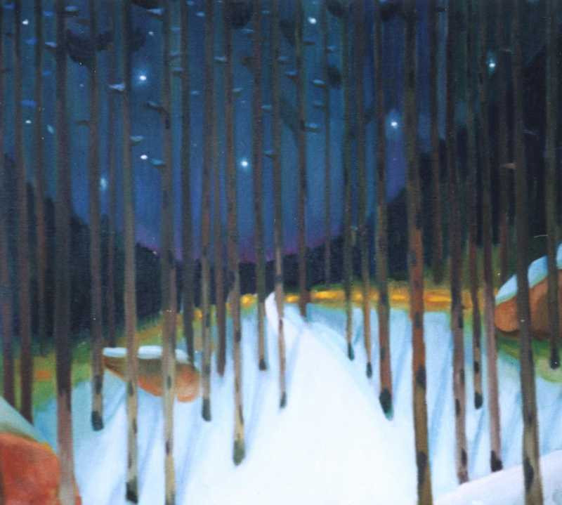 Forest in the winter, 2002, 71 × 71 cm, oil on canvas