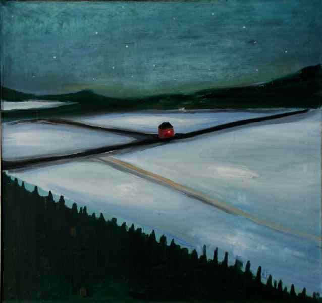 White night (private collection), 1997, 100 × 100 cm, oil on canvas